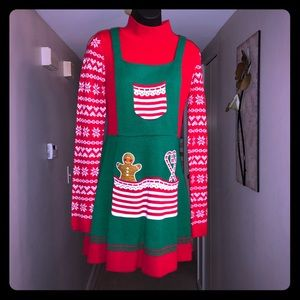 🎅🏿 Not So Ugly Christmas Sweater Dress 🌲